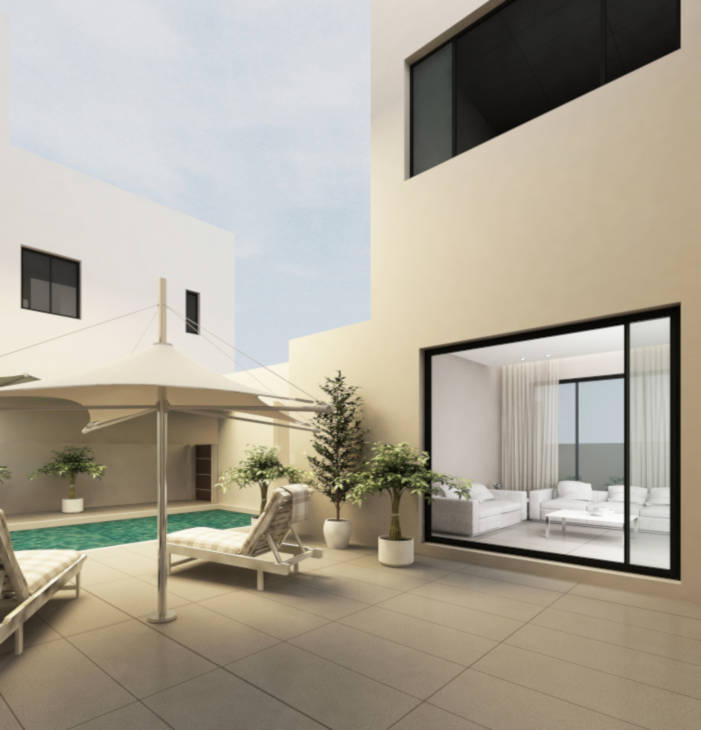 villas with private swimming pool in kuwait